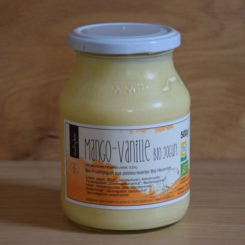Mango-Vanillejoghurt, Mango vanille Jogurt, Vanille-mangojoghurt