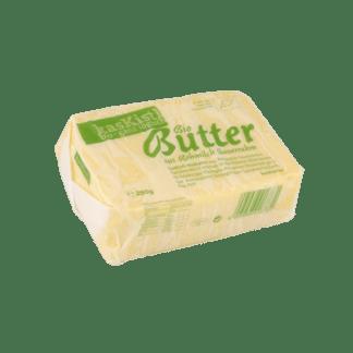 Sauerrahmbutter, gesäuerte Butter, buter, rohmilchbuter