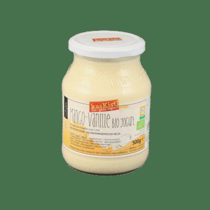 jokurt, jogurt, yoghurt, gerührt, biojoghurt, mango, vanile