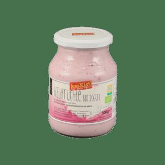 jokurt, jogurt, yoghurt, gerührt, biojoghurt, Himbeere, Heidelbeere, Bombeere, Erdbeere