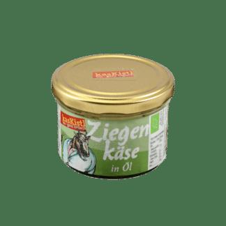Ziegenkäsewürfel, eingelegter Käse, marinierter Käse, Ziegenrohmilch
