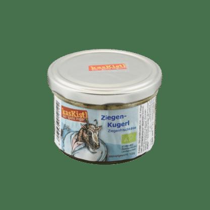 Bio ZiegenKugerl, Ziegenkäse, eingelegter Käse, marinierter Käse, Ziegenrohmilch