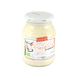 Hoflieferanten Pfirsich-Maracuja-Joghurt,Jokurt, Jogurt, Fruchtjoghurt, Pfirsich, Marakuja,